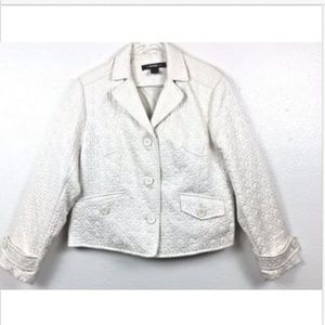 Weather Tamer Womens Size XL Ivory Quilted Jacket